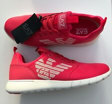 EMPORIO ARMANI EA7 Pink Trainers Sneakers Shoes Large Logo UK 5.5-11 BNWT/BOX