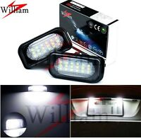2x LED Number Plate Light Xenon White Lamp For Benz C-Class W203 Sedan 2001-2007