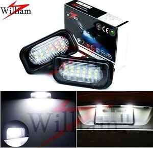 2x LED Number Plate Light Xenon White Lamp For Benz C-Class W203 Sedan 2001-2007