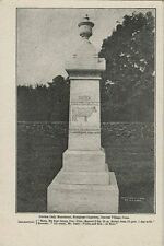 1905 Postcard - Gurdon Cady Monument - Evergreen Cemetery - Central Village CT