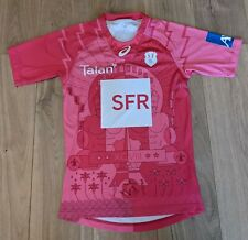 More details for stade francais rugby shirt asics paris rugby union jersey 2014/15 away pink med