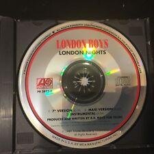 LONDON BOYS  London Nights (3 Versions) VERY RARE PROMO CD Atlantic