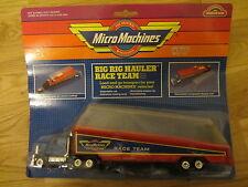 VECCHIO L'ORIGINALE Micro Machines miniature Big Rig Hauler Race Team Camion in massa