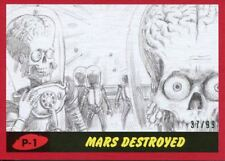 Mars Attacks The Revenge 2017 Complete 55 Card Red Pencil Art Par. [99] Base Set