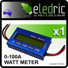 Jayco LED Volt Watt Current Meter 12V Battery Solar Caravan 4x4 Camping 4WD Boat