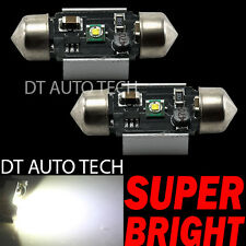 2X Cree Error Free Canbus 5 Watts 6000K LED White License Plate Light Bulbs 39MM