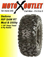 Yamaha Grizzly 600 Tires Sedona Atv Rip Saw Set of 4 25x8-12 Front 25x10x12 Rear