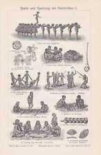 GIOCATTOLI natura popoli filo gioco Kreisel chiave in legno per 1910