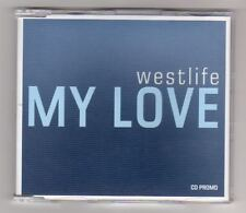 WESTLIFE Rare Cd Single MY LOVE  1 track  2000