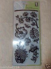 Inkadinkado Clear Stamps Flashy Floral Set  98843 New