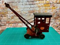 Triang Crane c1930's Red Black Roof Chain Holds (NO HOOK)