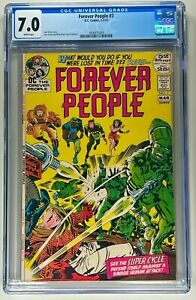FOREVER PEOPLE #7 CGC 7.0 F/VF (DC 1972) 🔑 KIRBY STORY & ART 🔥 WHITE PAGES