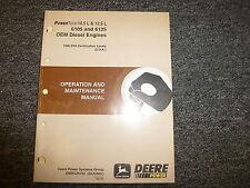 John Deere 6105 & 6125 Oem Diesel Engine Owner Owner's Operator Manual Omrg25752