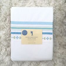 POTTERY BARN KIDS Hayden Embroidered floral twin Duvet cover only blue green