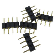 10x Black copper plated 4 pin RGB Connector for 3528 5050 SMD LED Strip Light EF