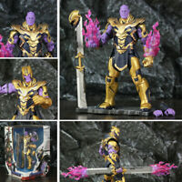 """Avengers Endgame Armored Thanos Action Figure Toy Infinity Gauntlet Sword 8"""" New"""