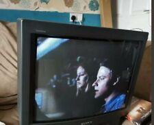 Vintage Sony Trinitron Kv21v6u Gaming Tv Built In Video Stored away for years.