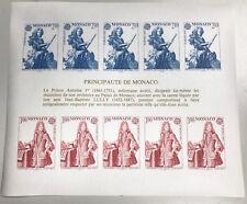 MONACO bloc n° 30a** EUROPA 1985, MUSIQUE, non dent., TB ** et RARE ! COTE 500€.