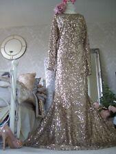 Monsoon Carlita Gold sequin maxi dress size 18 New Tags