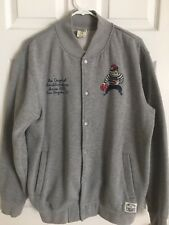 Crooks and Castles Grey Bank Robber Jacket Size Large