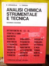 Amandola e Terreni ANALISI CHIMICA STRUMENTALE E TECNICA - III ed Tamburini 1973