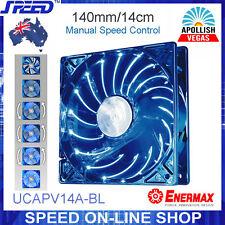 ENERMAX UCAPV14A-BL 14cm Blue LEDs Twister Bearing Apollish Vegas PC Cooling Fan