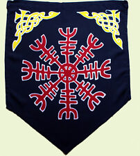 Helm of Awe Flag  - Viking, Odin,Thor, Norse, Heathen, Asatru. Hand Batik Rayon