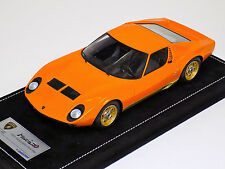 1/18 Looksmart MR Lamborghini Miura P400 Orange G. Motorshow 1996 Alcantara Base