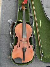 Alte Geige Mit Zettel Georg Drexel Um 1900