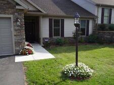 "7"" Black Outdoor Lamp Post Light Pole Flag Garden Driveway Yard Deck Commercial"