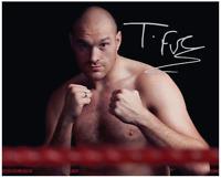 Tyson Fury Collectors Autograph PrePrint Glossy 8x6 Inch Boxing Wilder Joshua