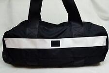 Victoria's Secret Pink Campus Gym Bag BLACK & WHITE Colorblock Duffle Tote Purse