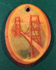 Vintage Genuine Orangewood Souvenir Golden Gate Bridge CA