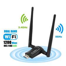 1200 Mbps Adaptador USB Dongle Wifi Doble Banda red LAN inalámbrica 2.4GHz 5.8GHz Reino Unido
