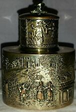 ANTIQUE BARBOUR SILVER CO SILVER OVER COPPER REPOUSSE TEA CADDY