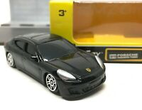 "Porsche Panamera Turbo Black Diecast Car Scale 1/64 (2.5"") RMZ City"