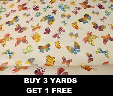 Colourful Butterfly Butterflies Flying Tablecloth Vinyl PVC Oilcloth Fabric