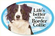 Life's Better with a Border Collie Dog Car Plastic Magnet