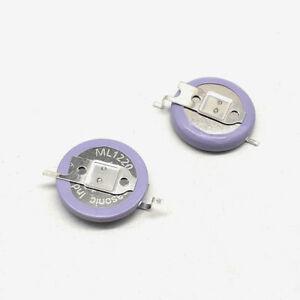 Panasonic ML1220 rechargeable button battery with welding feet ML1220/F1AN 2PCS