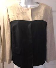 New $129 BANANA REPUBLIC Women's Jacket Coat Blazer Navy Blue Linen Sz 6 NWT
