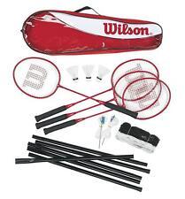 WILSON TOUR 4 joueurs famille Badminton Ensemble avec filet, poteau et volants