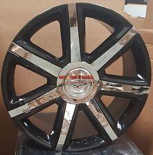 24 Wheels & Tires Cadillac Escalade Platinum Style Black Rims EXT ESV 22 26