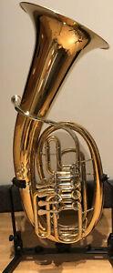 Vierventiliges Bariton MWEP-54G von Music World komplett Goldmessing/Neusilber!