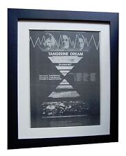 TANGERINE DREAM+Stratosfear+TOUR+POSTER+AD+FRAMED+ORIGINAL 1976+FAST GLOBAL SHIP