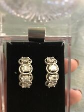 Pierced - Holidays - Party Nolan Miller Signed Silvertone Crystal