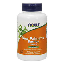 NOW FOODS Saw Palmetto Berries 550mg 100 Capsules - bacche di Serenoa repens