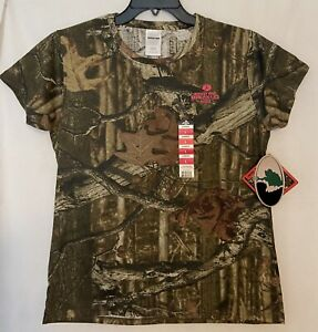 Mossy Oak Break-up Infinty Women's Camouflage Short Sleeve T-Shirts, Size Large