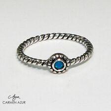 Anillo midi plata 925 la Crystale, Azul, hecho con Swarovski Cristal Inc Bolsa De Regalo