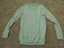 Ladies Womens GAP Large L Long Sleeve Light Green Pullover Sweater