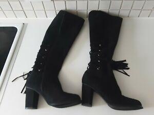 Womens Black Beyou Boots Uk Size 5